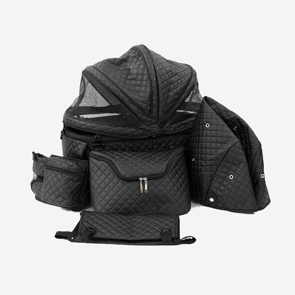 天使のカートブラックキルトバッグ